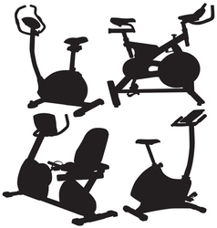 Fitness bike vector
