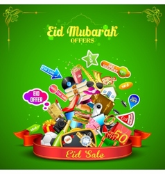 Eid mubarak offer vector