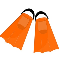 Orange flippers vector
