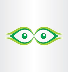 Human eyes stylized icon vector