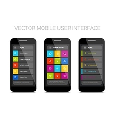 Colorful mobile user interface design vector