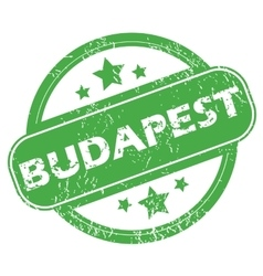 Budapest green stamp vector