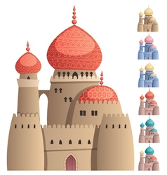 Arabian castle on white vector