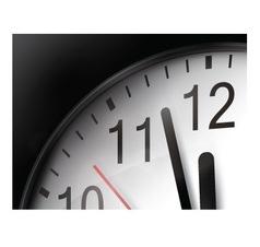 Clock Close Up vector image