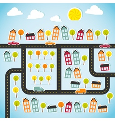 Abstract paper town vector