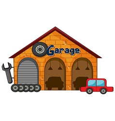 A garage shop vector image vector image