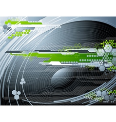 Abstract futuristic background with stereo speaker vector image