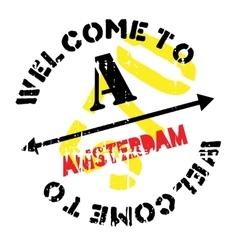Amsterdam stamp rubber grunge vector