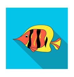 angel fish icon in flat style isolated on white vector image vector image