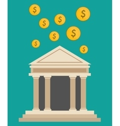 bank building currency dollar design vector image vector image