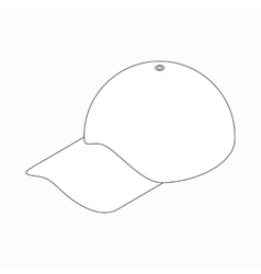 Baseball hat icon isometric 3d style vector
