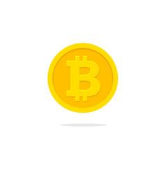 bitcoin coin icon flat cartoon vector image
