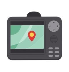 Car navigator mobile gps navigation flat vector image
