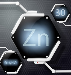 Chemical element zinc vector