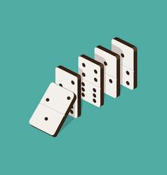 domino effect isometric vector image