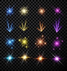 Festive color firework set vector image