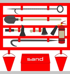 Fire standflat style vector
