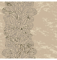 Floral design border in renaissance style vector image vector image
