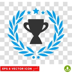 Glory cup laurel wreath eps icon vector