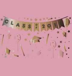 graduation class of two thousand eighteen vector image