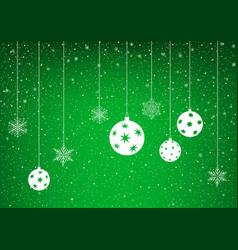 green winter background with snowflake vector image vector image