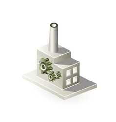 Isometric factory vector image vector image