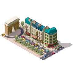 Isometric paris street vector