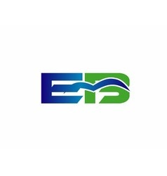 Letter e and b logo vector