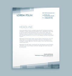 Letterhead abstract design vector
