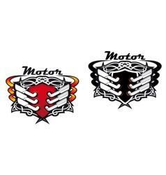 Motor sports icons vector