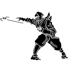 Ninja fighter - Vinyl-ready vector image vector image