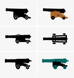 old cannons vector image vector image