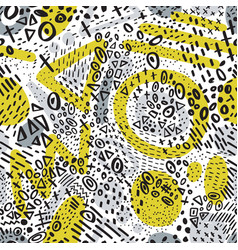 seamless pattern with abstract marker doodling vector image vector image