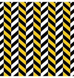 seamless pattern yellow black geometric vector image