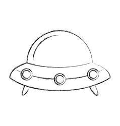 Space ship isolated icon vector