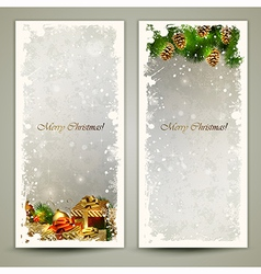 Two greeting cards vector image vector image