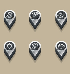 weather symbols in 3d vector image vector image
