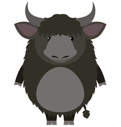 Yak with happy face vector