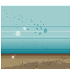 Sparkle beach background vector