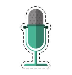 cartoon vintage microphone studio style vector image