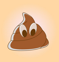 Creative and minimal rational shit icon emblem vector