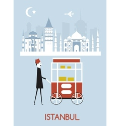 Man in istanbul vector