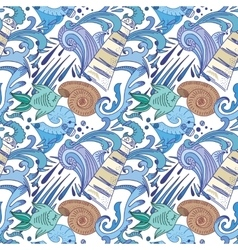 Nautical blue pattern vector