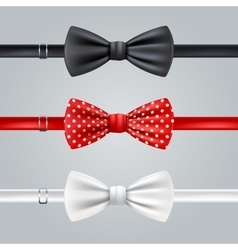 Bow ties realistic set vector
