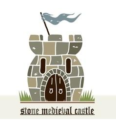 Stone castle vector