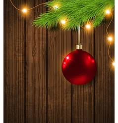 Shining red decoration and garland vector