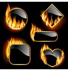 Flaming frames vector