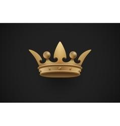 Gold royal crown on a dark black background vector