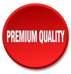 Premium quality red round flat isolated push vector