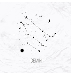 Astrology sign gemini on white paper background vector